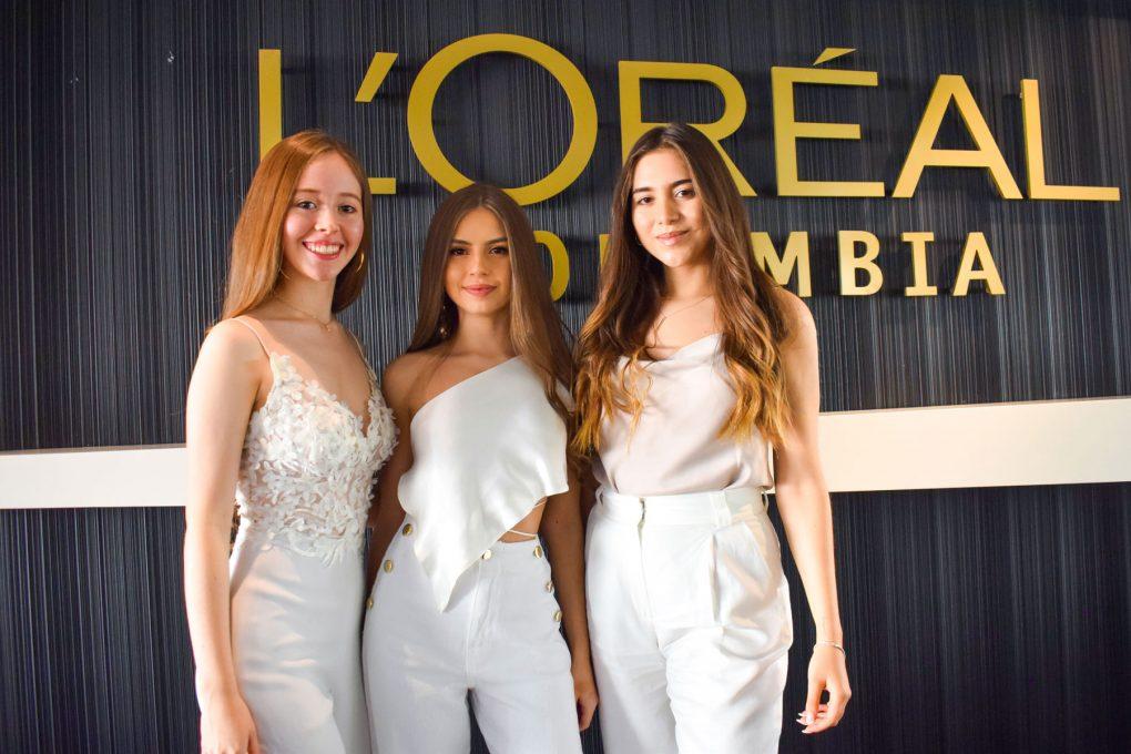 María José Romero, Mariana Sáchica y Valentina Suárez, en la final del Brandstorm de L'Oreal